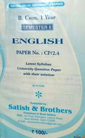English B.com 1st Year