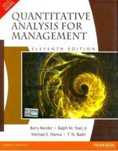 Quantitative Analysis for Management (English) 11th Edition