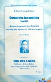 CORPORATE ACCOUNTING PAPER VIII (B.COM HONS)