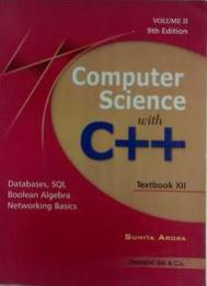 Computer Science with C++ for Class - 12 (Volume 2)(English) 9th Edition