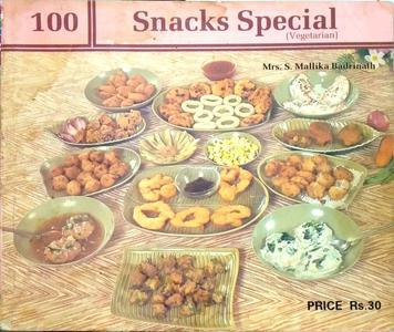 100 snacks special vegetarian in English language