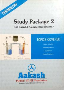 AAKASH CHEMISTRY STUDY PACKAGE FOR BOARD AND COMPETITIVE EXAM. PACK OF 4 BOOKS