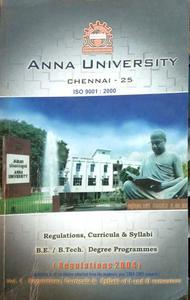 Anna university vol 1 syllabi for 1&2 semester and regulations