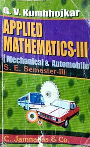 Applied Mathematics 3 mechanical and automobile is S.E. semester 3