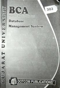 BCA Datsbase management system Gujarat university 302