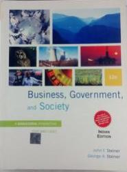 Buiseness, Government, And Society: A Managerial Perspective (English) 12th Edition