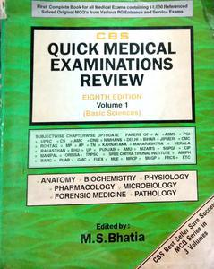 CBS quick medical examinations review 8th edition volume 1 basic science