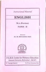 ENGLISH M.A.( Previous
