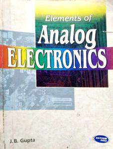 Elements Of Analog Electronics(Ip)