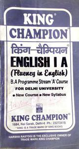 English 1 a BA programme stream a course
