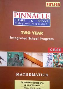 FIITJEE PINNACLE IIT-JEE AND SCHOOL (INTEGRATED PREPARATION) TWO YEAR INTEGRATED SCHOOL PROGRAM (2017-19) MATHEMATICS PACK OF 21 BOOKS