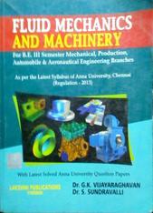 Fluid Mechanics and machinery by Dr S sundravalli