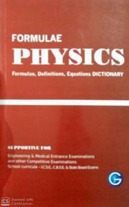 Formulae Physics Formulae, Definitions Dictionary