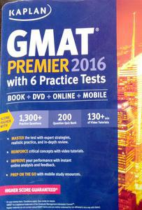 GMAT premier 2016 with 6 Practice tests in English