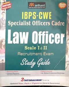 IBPS CWE specialist officers cadre Law officers scale 1 and 2 recruitment exam study guide