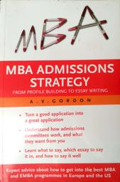 MBA admissions strategy: