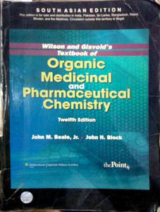 Medicinal and Pharmaceutical chemistry
