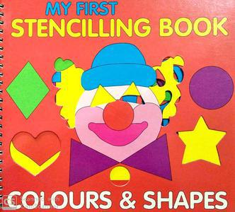My First Stencilling book colours and shapes