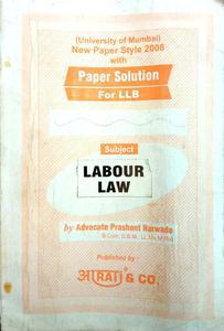 New paper style 2008 with paper solution for LLB Labour law