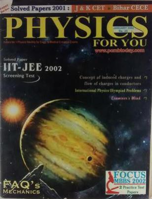 PHYSICS FOR YOU SOLVED PAPERS 2001 IIT JEE 2002 SCREENING TEST JANUARY 2002