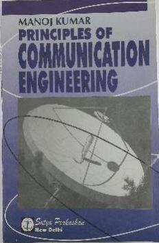 PRINCIPLES OF COMMUNICATION ENGINEERING IN ENGLISH