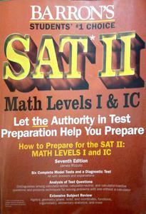 SAT 2 MATH LEVELS I & IC 7th edition