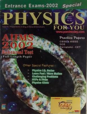 SPECIAL PHYSICS FOR YOU ENTRANCE EXAMS 2002 AIIMS 2002 MAY 2002