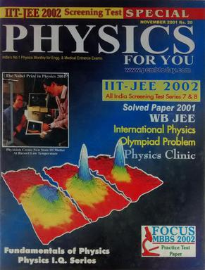 SPECIAL PHYSICS FOR YOU IIT JEE 2002 SCREENING TEST SERIES 7 AND 8 NOVEMBER 2001