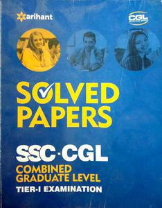 Solved papers SSC CGL Combined Graduate Level Tier 1 Examination