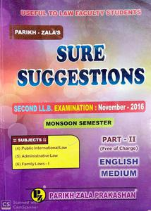 Sure Suggestions second LLB examination November 2016 part 2