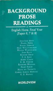 background prose reading English honours final year