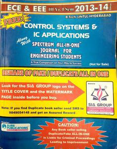 control systems and IC applications Spectrum all in one journal for engineering students ECE AND EEE 3rd year SEM 1 2013-14