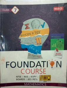 foundation course NTSE NVS KVPY BOARDS JEE PETs mathematics class 7
