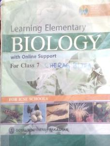 learning elementary Biology for class 7 by SK Agarwal