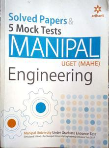 solved papers and 5 mock tests manipal engineering by na