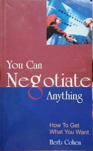 you can negotiate anything in English